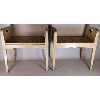 Pair Of Nineteenth Century Benches