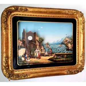 Peinture Avec Musique Automate Du XIX Eme
