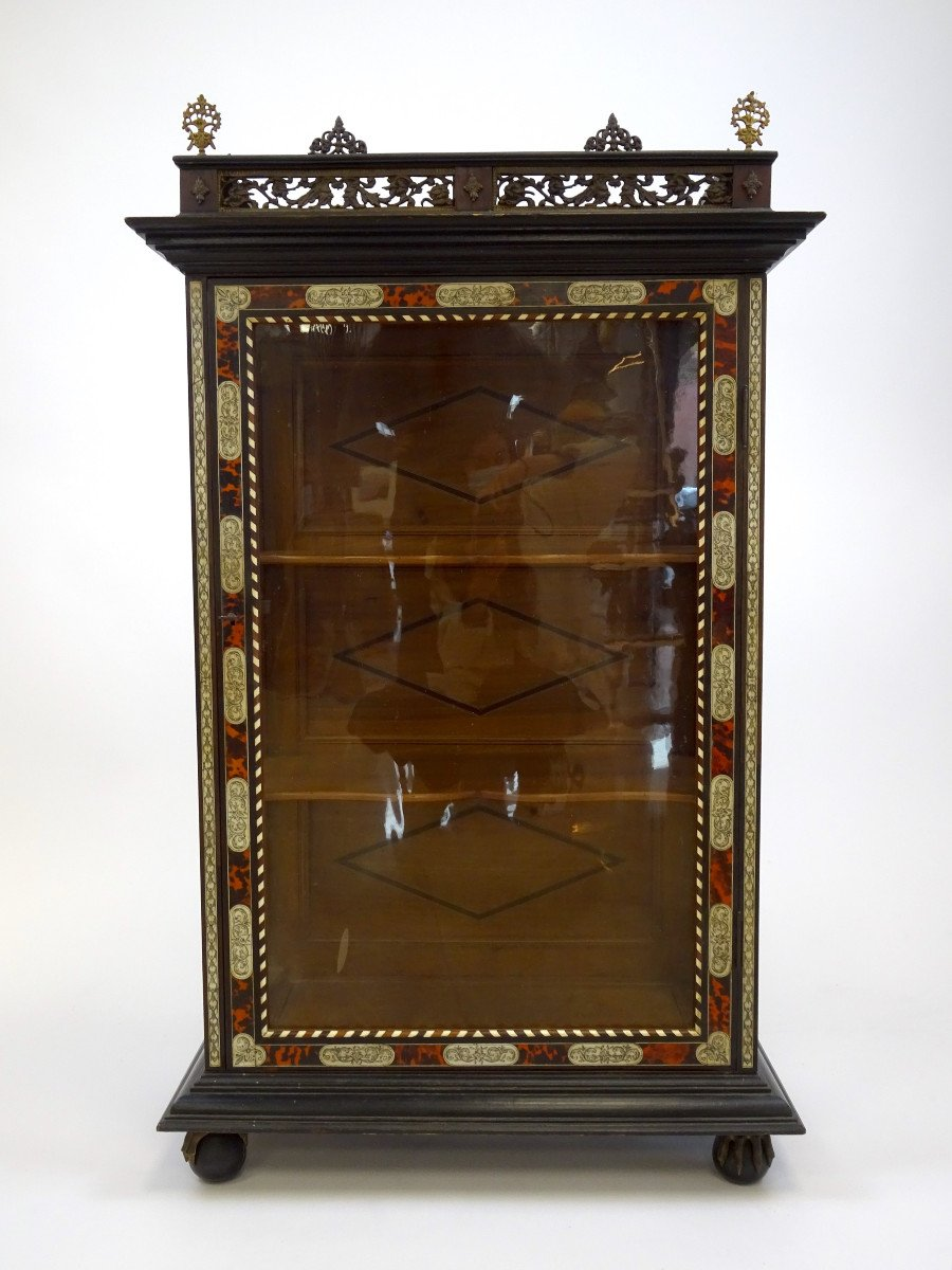 English Cabinet In Wood Second Half Of The 19th Century.