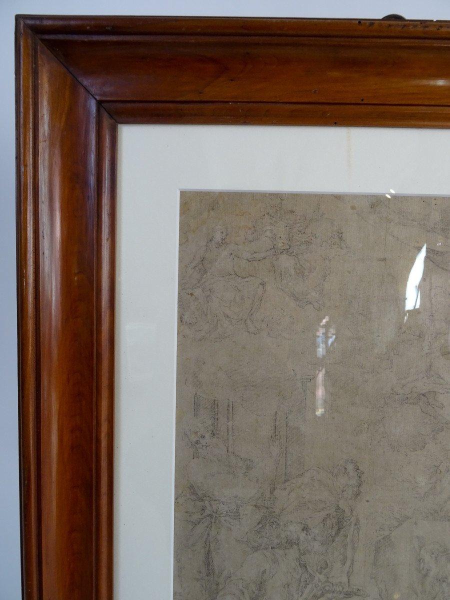 Crayon Sur Papier Attribué à Sebastiano Ricci - Assomption Et Couronnement De La Vierge-photo-1