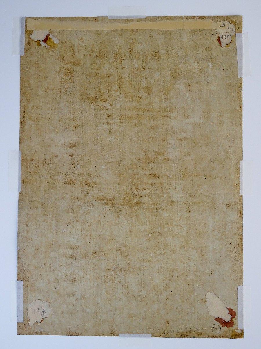 Crayon Sur Papier Attribué à Sebastiano Ricci - Assomption Et Couronnement De La Vierge-photo-5