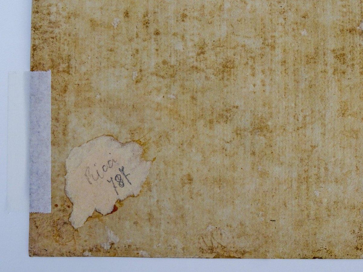 Crayon Sur Papier Attribué à Sebastiano Ricci - Assomption Et Couronnement De La Vierge-photo-6