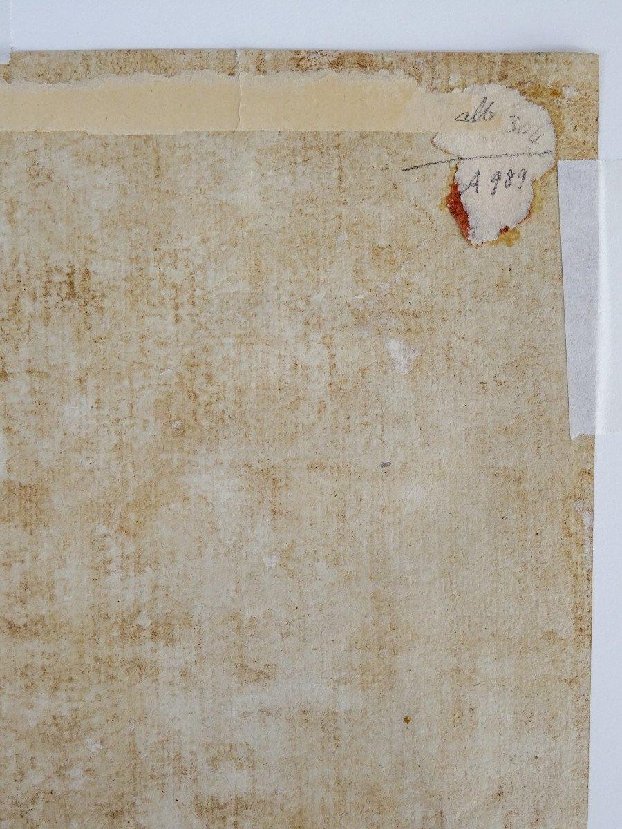 Crayon Sur Papier Attribué à Sebastiano Ricci - Assomption Et Couronnement De La Vierge-photo-7