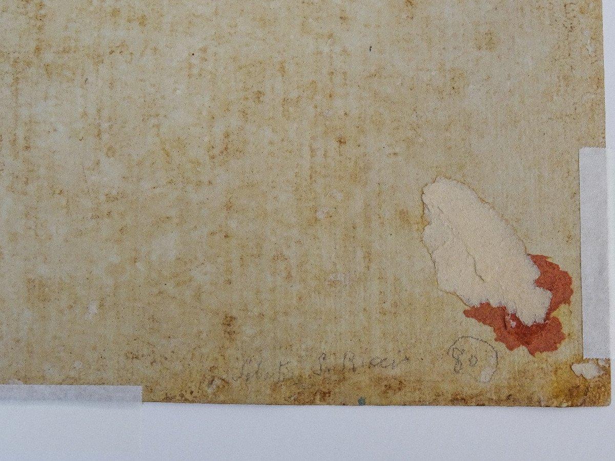 Crayon Sur Papier Attribué à Sebastiano Ricci - Assomption Et Couronnement De La Vierge-photo-8