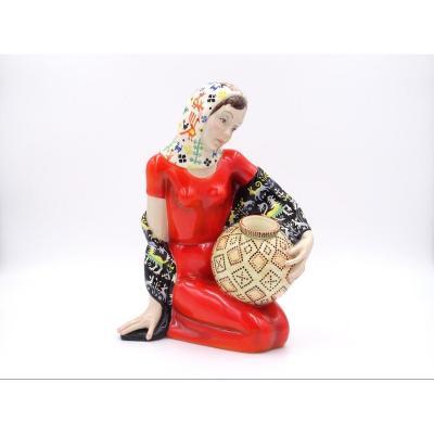 """""""Concetta"""", sculpture en céramique, manufacture Lenci"""
