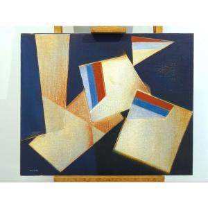 """Tableau """"LITORALE"""", Felice Canonico 1974"""