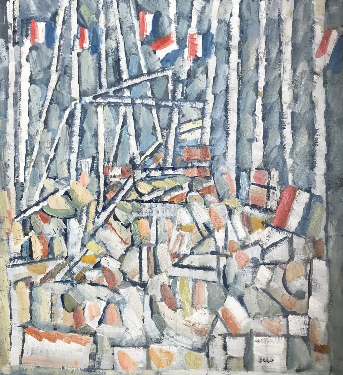 Pierre Coquet -  With Tricolor Flags (f151)
