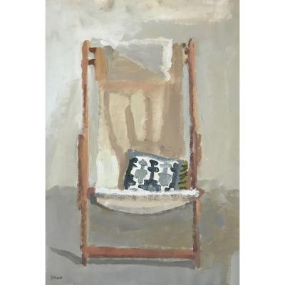 Pierre Coquet - Chaise Longue With Cushion (f67)