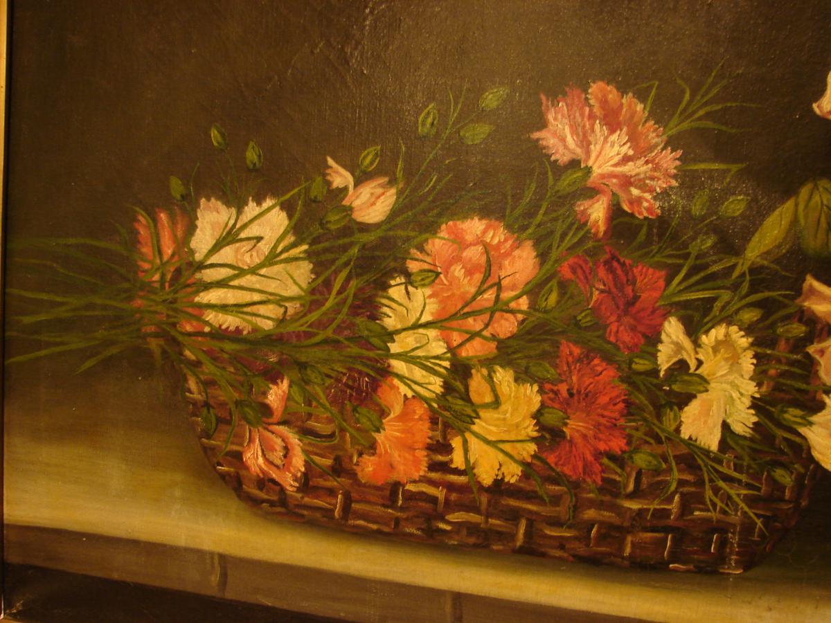 Grande Nature Morte Aux Fleurs Edouard.w.hoehn 1922-photo-4