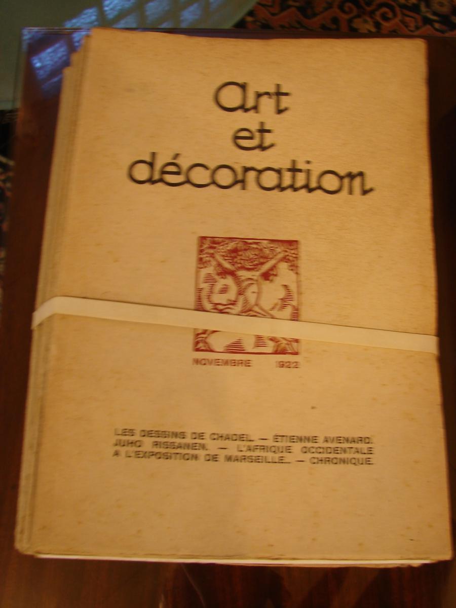 Art Et Décoration 1922 à 1934 Années Completes Documentation  Art Deco-photo-2