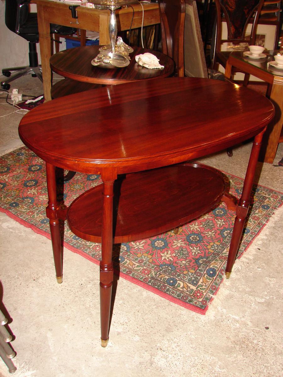 Petite Table Ovale 1925 Majorelle Nancy estampillé