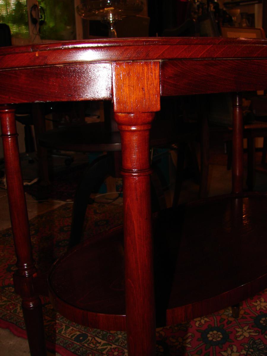 Petite Table Ovale 1925 Majorelle Nancy estampillé-photo-4