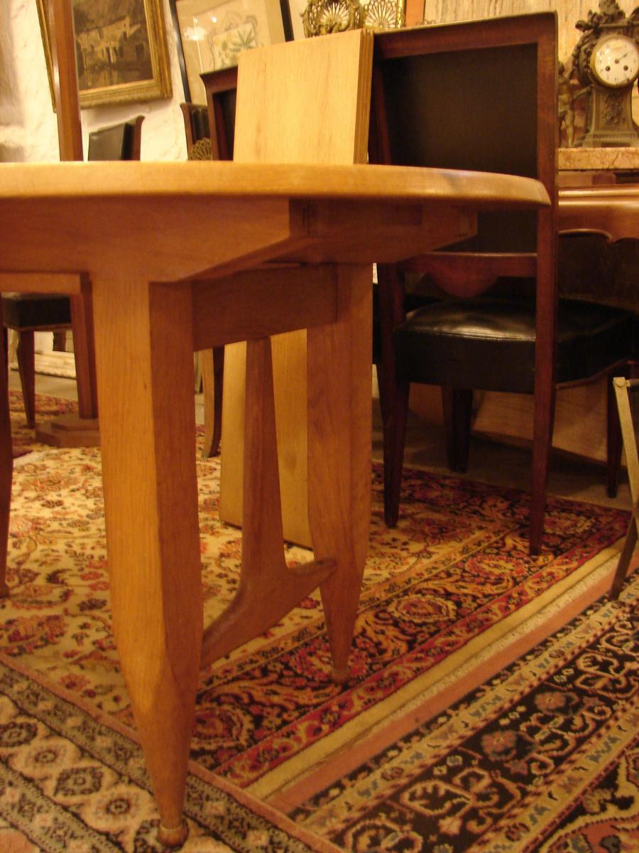 Table De Salle à Manger Avec Rallonges  Guillerme Et Chambron Chêne-photo-3