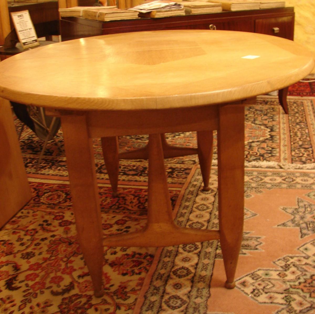 Table De Salle à Manger Avec Rallonges  Guillerme Et Chambron Chêne-photo-1