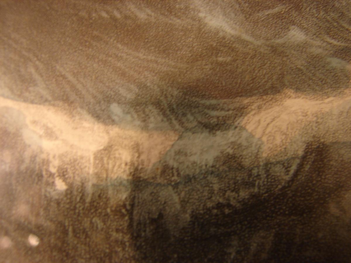"estampe couleur 1840 ""steam ship ""president"" cadre acajou-photo-5"