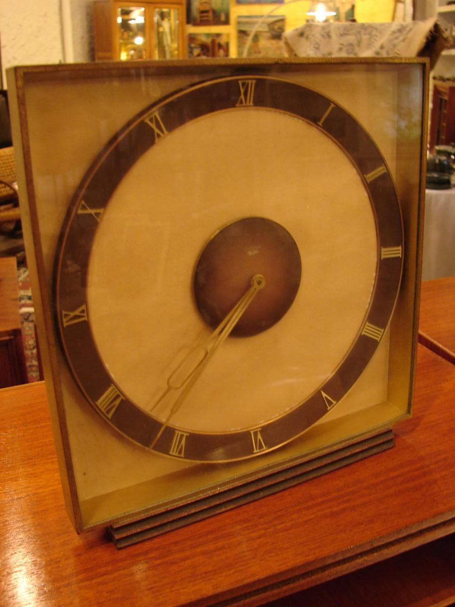 Pendule De Table En Bronze Doré 1940 junghans meifter-photo-1