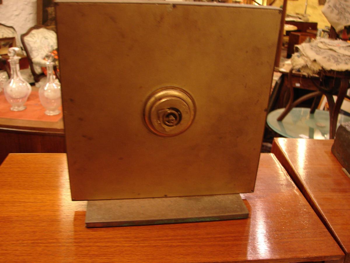 Pendule De Table En Bronze Doré 1940 junghans meifter-photo-4