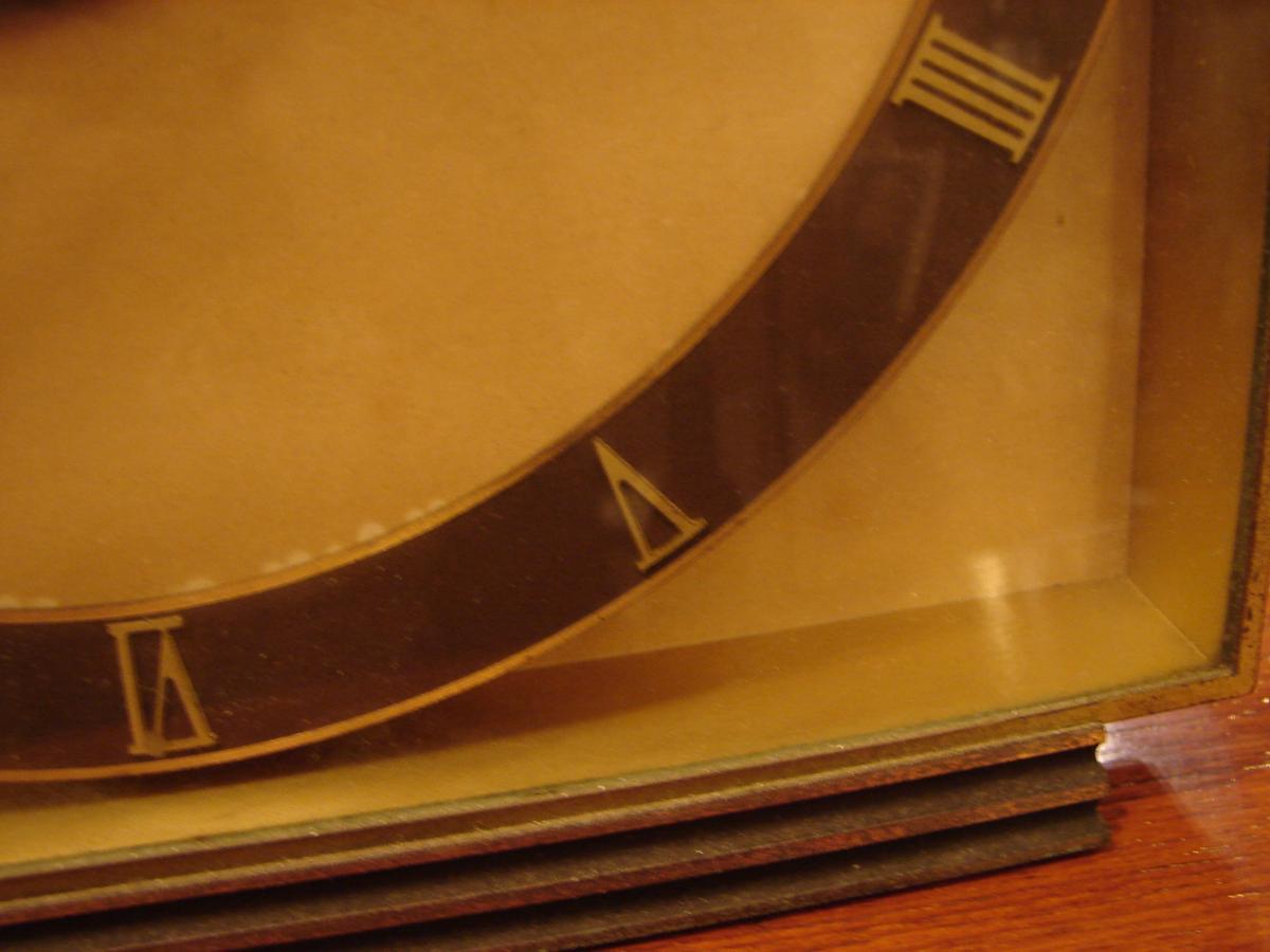 Pendule De Table En Bronze Doré 1940 junghans meifter-photo-5