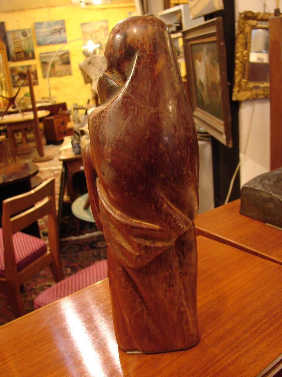 """Céline Lepage """"la Femme De Marrakech"""" Sculpture En Bois De Cerisier,-photo-4"""