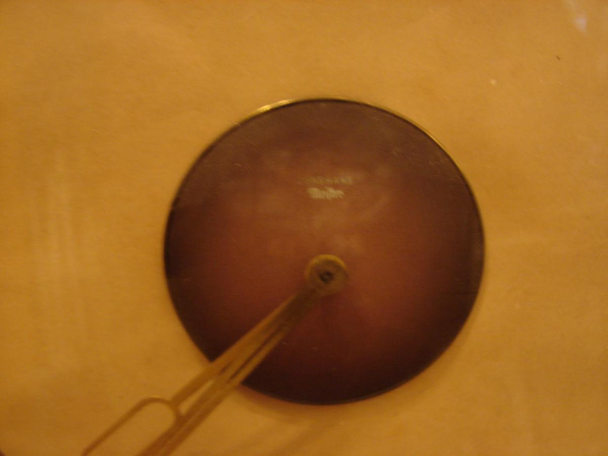 Pendule De Table En Bronze Doré 1940 junghans meifter-photo-2