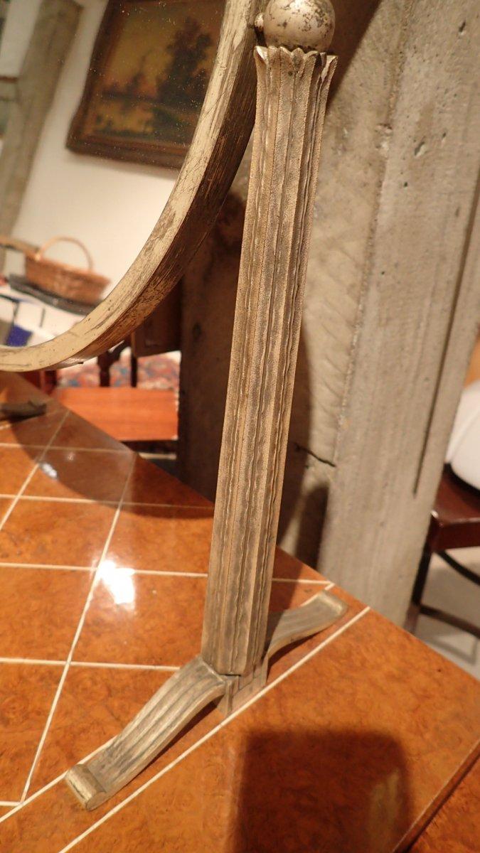 Art Deco Dressing Table, Dlg De Ruhlmann, Ivory, Silver Bronze, Amboyna And Sycamore-photo-2