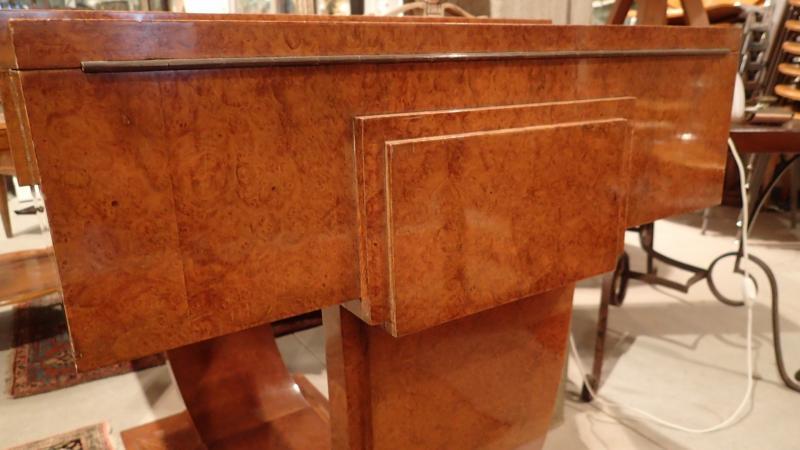 Art Deco Dressing Table, Dlg De Ruhlmann, Ivory, Silver Bronze, Amboyna And Sycamore-photo-4