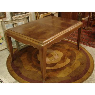 Belle Table Art Déco En Noyer Dlg De Louis Süe