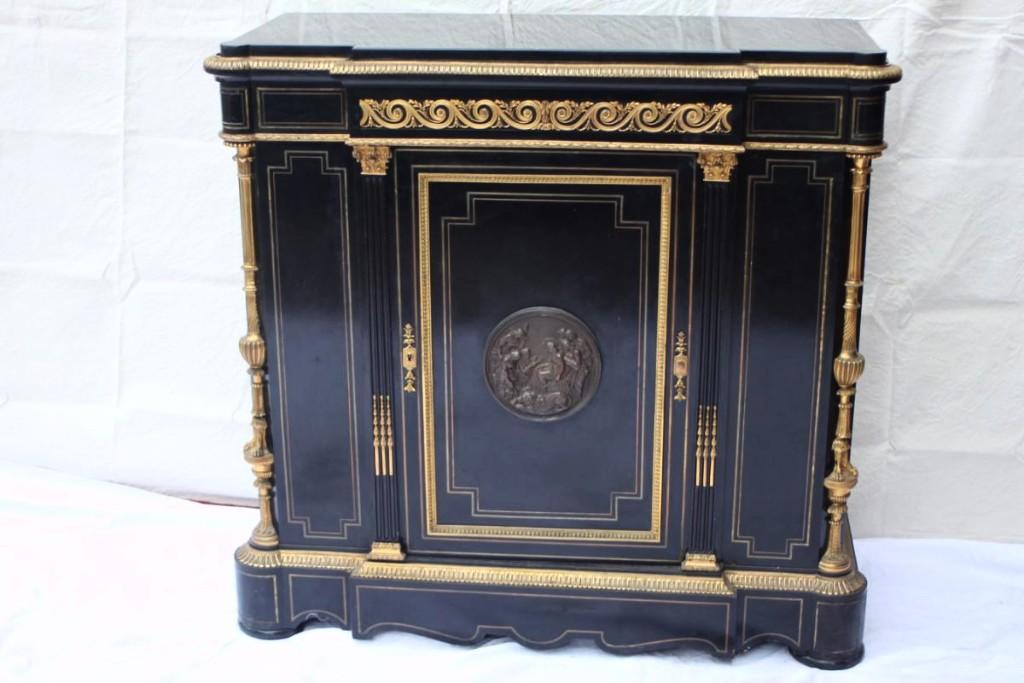 Meuble d'appui d'époque Napoléon III, en bois noirci