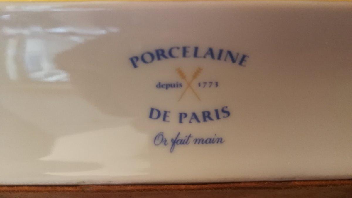 Plateau en porcelaine de Paris-photo-2