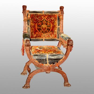 Oak Ceremonial Chair Molded And Sculpted