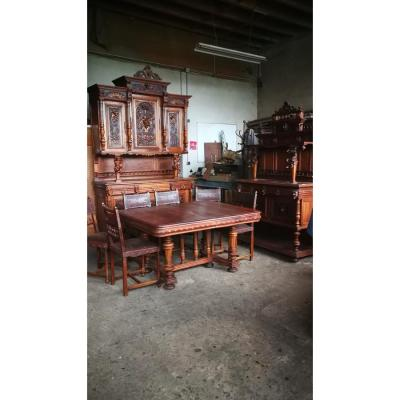 """Neo-renaissance Dining Room In Walnut Called """"triboulets"""""""