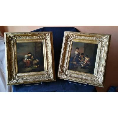 Pair Of Paintings On Copper