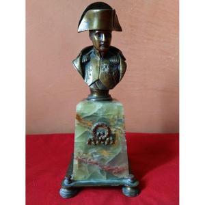 Buste Napoléon en bronze