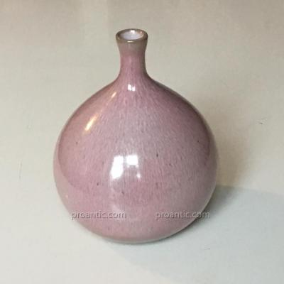 """Jacques Et Dani Ruelland - Vase """"Figue""""  En Céramique Emaillé  Rose / リュエラン花瓶"""