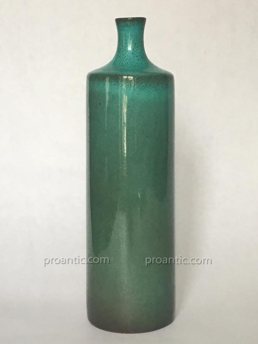 Ruelland  Ceramic Enamelled Bleu Green Vase / リ ュ エ ラ ン ン の の 花瓶