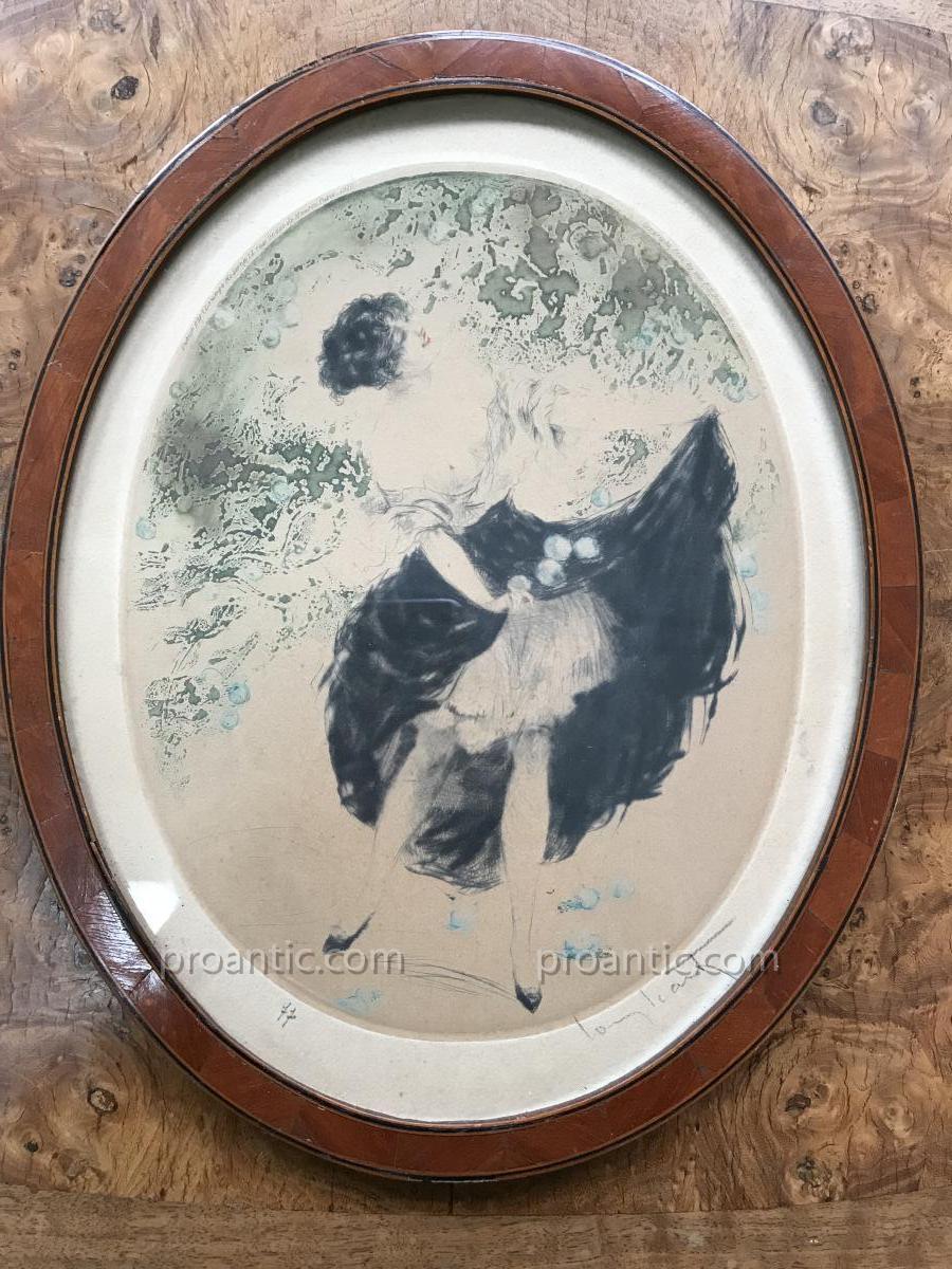 """Gravure Originale De Louis Icart """"autumn(plums)"""" ,1920"""