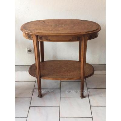 Leon Jallot (in The Style Of) :  Walnut Side Table , Circa 1920