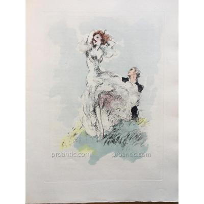 """Louis Icart / Thérèse Castel Illustrated Book """"fate Of Woman"""""""