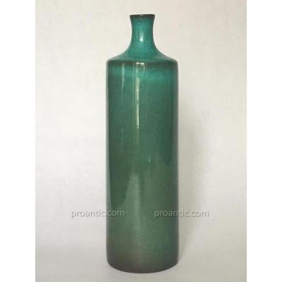 Ruelland-vase En Céramique émaillé Vert /リュエラン青緑の花瓶