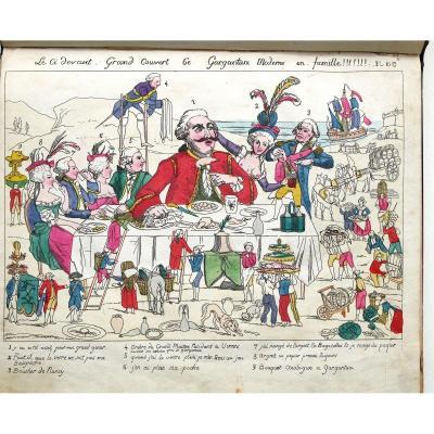 """Album Recueil """"Musée de la Caricature"""", 38 Eaux Fortes Originales, 1838"""