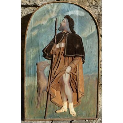 Saint Roch, Collage Tissu, Papier Peint XIXème