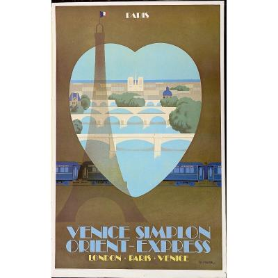 Fix-masseau, Poster Paris Venise Simplon - Orient-express, 1981