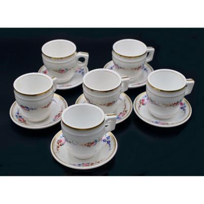 6 Brûlots Porcelaine De Paris Début XIXème