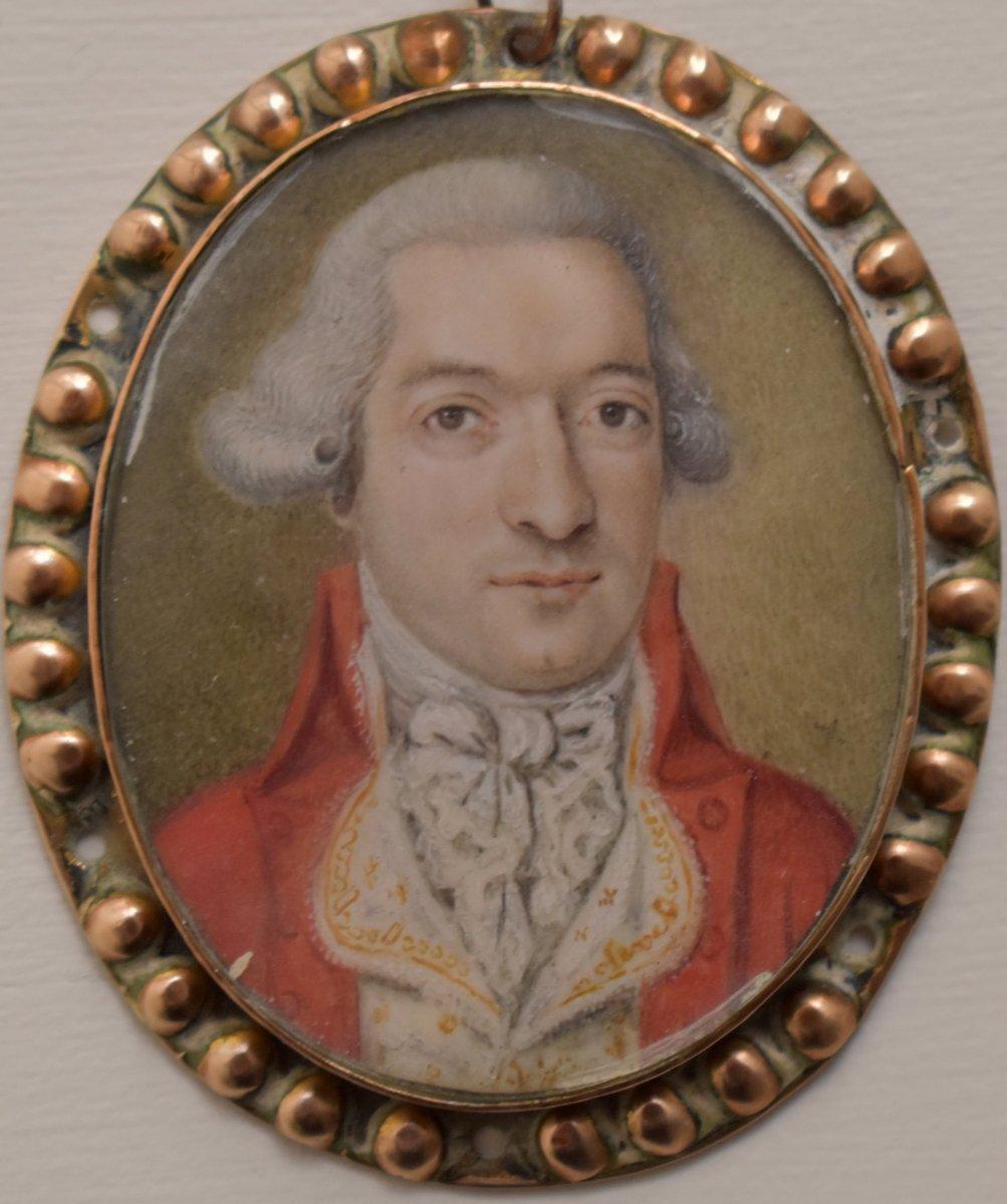 Miniature British School Portrait C1790