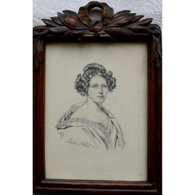Maria RÖhl (1801-1875) Miniature Portrait C1840