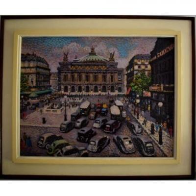Lucien Maxime Roubinet (1926) Pointillist