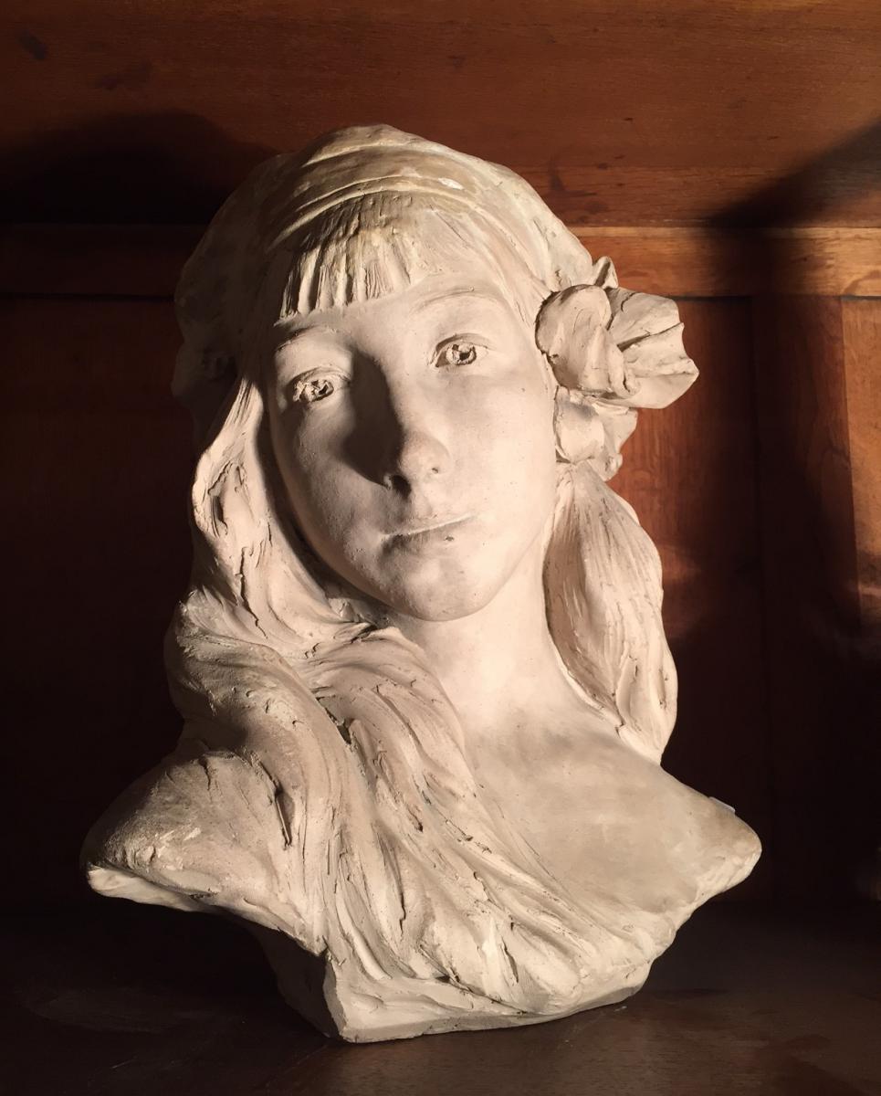 Terre Crue d'Atelier Signé Lucien Danglade, Sculpteur Basque