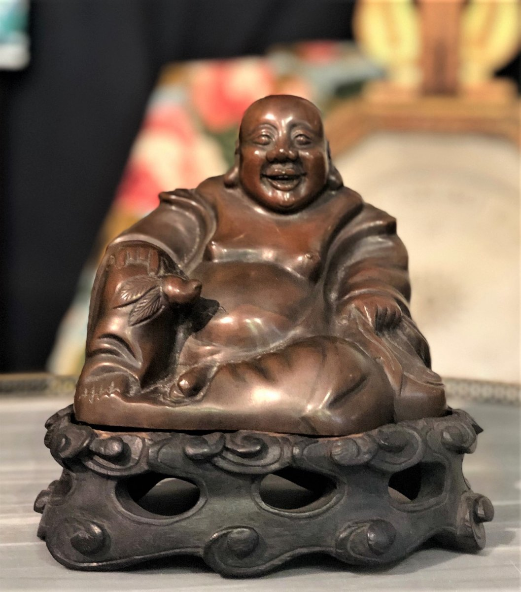 Bouddha Poussah En Bronze 19eme