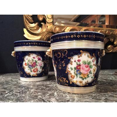 Pair Of Planters Porcelain Nineteenth