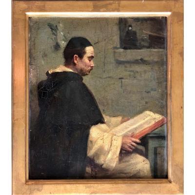 Portrait d'Un Dominicain, Alphonse Legros (1837-1911)